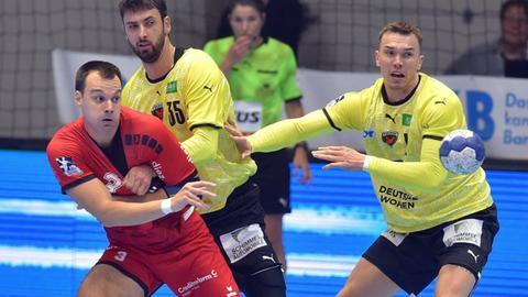 Marino Maric von der MT Melsungen im Spiel gegen Berlin