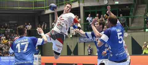 Melsungens Roman Sidorowicz im Spiel gegen den Bergischen HC