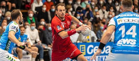 Kai Häfner von der MT Melsungen im Spiel in Göppingen