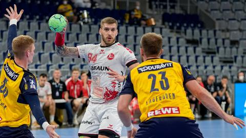 Domagoj Pavlovic von der MT Melsungen im Spiel in Mannheim