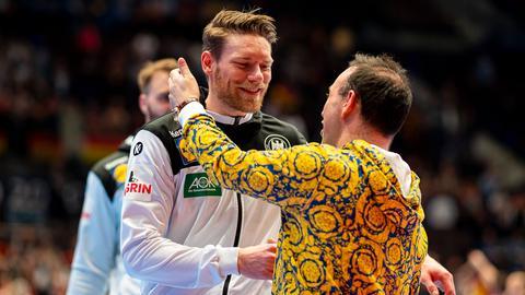 Tobias Reichmann mit Bob Hanning.