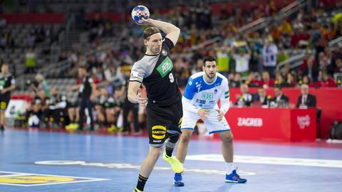 """Tobias Reichmann rettete den """"Bad Boys"""" aus sieben Metern einen Punkt gegen Slowenien."""