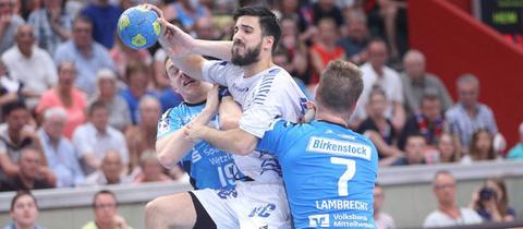 Klein und Lambrecht vom TV Hüttenberg