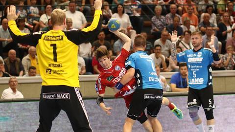 Hüttenberg im Spiel gegen Lemgo