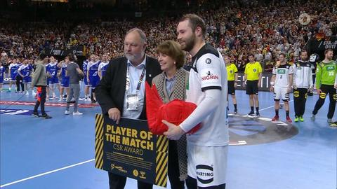 Faeth als Man of the Match geehrt