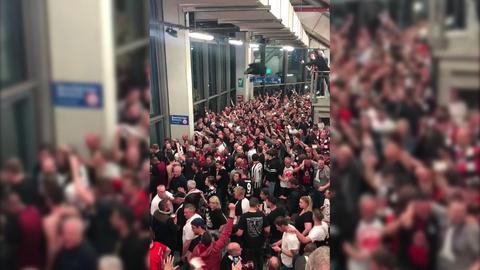 Eintracht Fans Feiern den Einzug ins DFB-Pokal-Finale