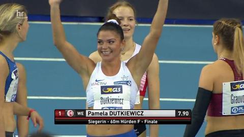 Pamela Dutkiewicz strahlt nach ihrem Sieg