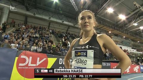 Rebekka Haase vor dem Wettkampf