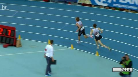 letzte Runde 3000m Leichtathletik