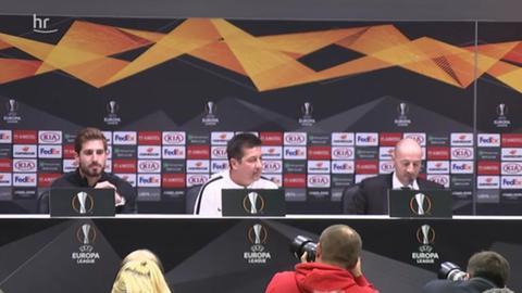 Pressekonferenz Eintracht Frankfurt vor Inter Mailand