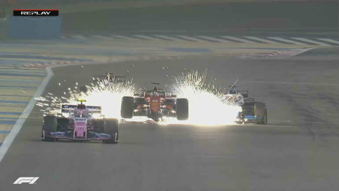 Sebastian Vettel beim Crash