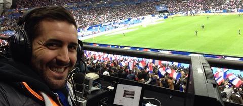 hr-Sportreporter Philipp Hofmeister