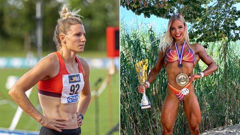 Leichtathletin und Bodybuilderin