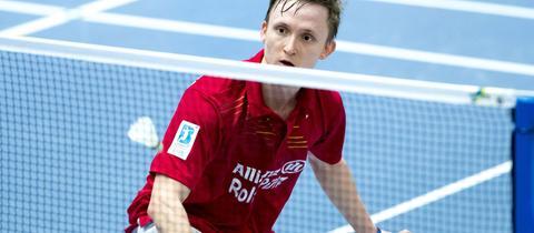Kai Schäfer beim Badmintonspielen