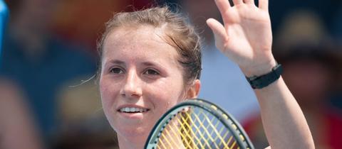 Annika Beck beim Turnier in Australien