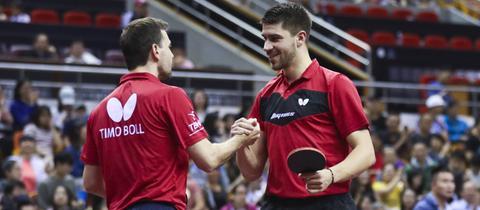 Timo Boll und Patrick Franziska bei den China Open.