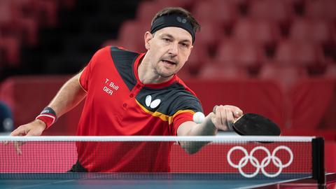 Timo Boll bei den Olympischen Spielen in Tokio