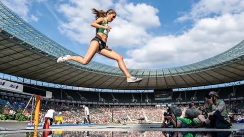 Gesa Krause bei den deutschen Meisterschaften in Berlin