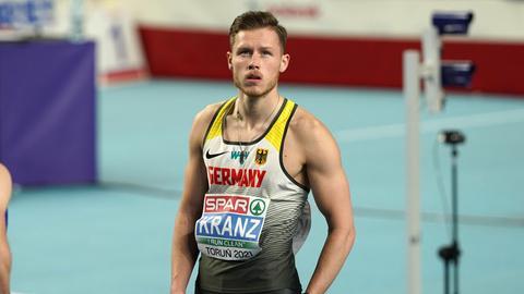 Kevin Kranz nach dem EM-Lauf im polnischen Torun