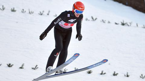 Stephan Leyhe bei der Landung