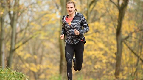 Lisa Hahner beim Lauftraining