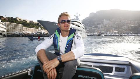 Nico Rosberg posiert in Monaco