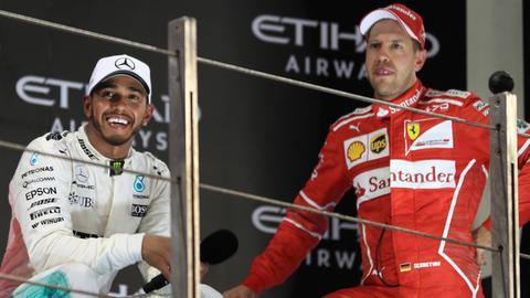 Lewis Hamilton und Sebastian Vettel