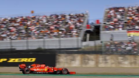 Sebastian Vettel in seinem Ferrari beim Großen Preis von Japan.