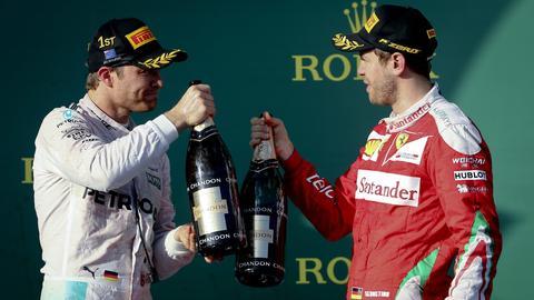dpa Rosberg Vettel