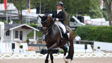 Isabell Werth auf ihrem Pferd Bella Rose
