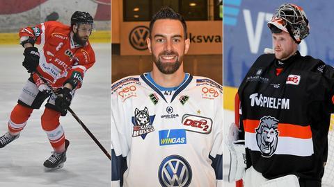 Die Eishockey-Spieler Ketter, Dinger und Bick