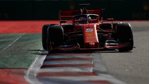 Ferrari-Pilot Sebastian Vettel erlitt einen Rückschlag in Russland.
