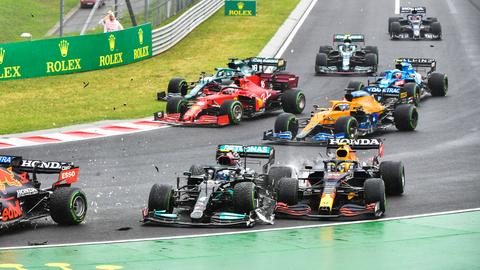 Der Crash beim GP von Ungarn