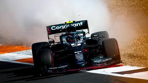 Sebastian Vettel in seinem Aston Martin.