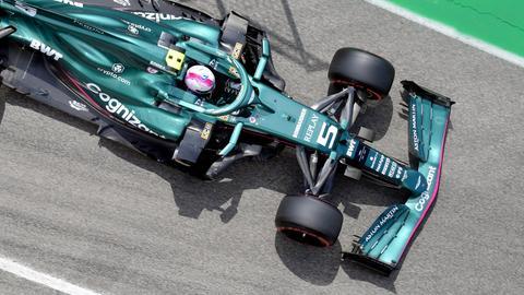 Sebastian Vettel konnte in seinem Aston Martin noch nicht überzeugen.