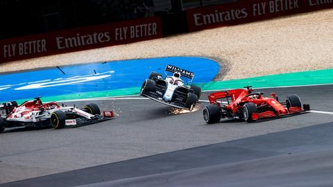 Ferrari-Pilot Sebastian Vettel enttäuschte auch am Nürburgring.