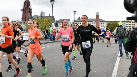 Laura Chacon beim Frankfurt Marathon