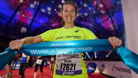 """""""Die schnellste Mutter der Welt"""": Kerstin Bertsch im Ziel"""