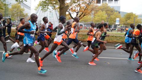 Läufer beim Marathon Frankfurt