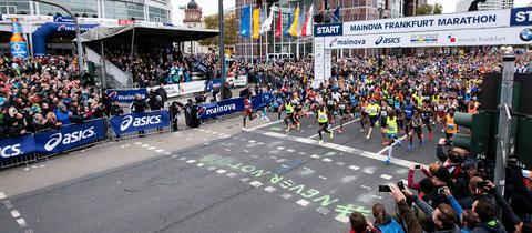 Start beim Frankfurt Marathon