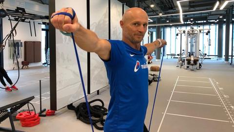 Thomas Zampach beim Training für den Frankfurt Marathon