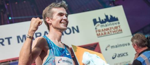 Frisch gebackener Vater und deutscher Marathon-Meister: Arne Gabius.