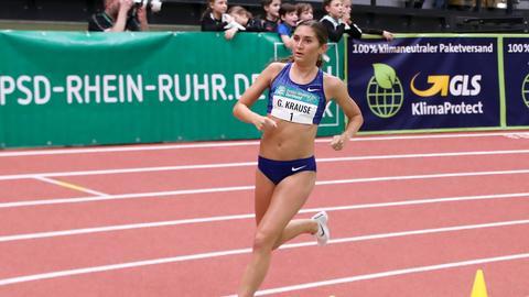 Gesa Krause bei einem Wettkampf in Dortmund im Februar 2020