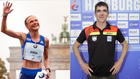 Anna Hahner und ihr neuer Trainer Dan Lorang