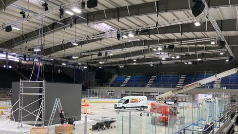 Die neue Halle der Kassel Huskies
