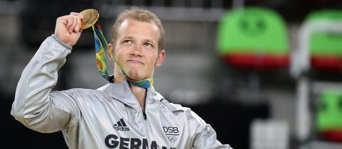 Fabian Hambüchen mit Goldmedaille