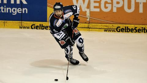 Noureddine Bettahar von den Kassel Huskies in Aktion