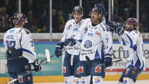 Spieler der Kassel Huskies