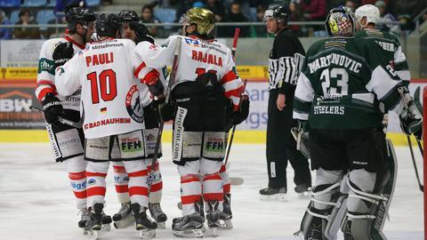 Bad Nauheim jubelt über den Sieg in Bietigheim