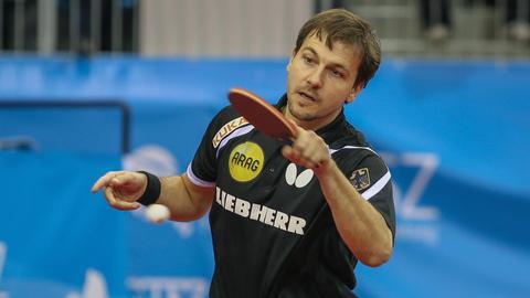 Timo Boll bei der Tischtennis-EM in Budapest